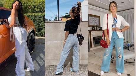 As influencers já postaram várias fotos usando a wide leg
