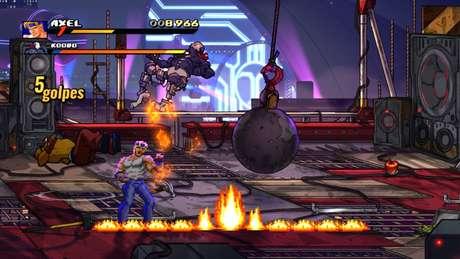 Em SoR4, é possível desbloquear as versões retrô dos heróis da série Streets of Rage