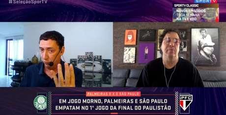 PVC e Walter Casagrande estiveram no 'Seleção SporTV' nesta sexta-feira (Reprodução/SporTV)