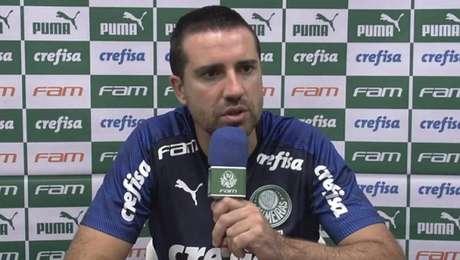 João Martins, auxiliar do Palmeiras, diz que empate sem gols foi justo