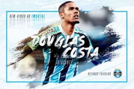 Douglas Costa está de volta ao Grêmio (Foto: divulgação)