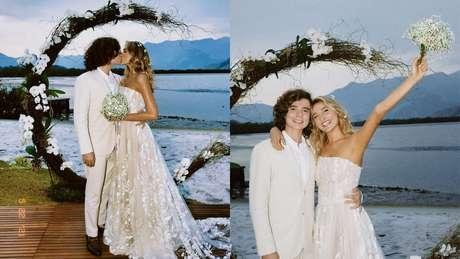Sasha Meneghel e João Figueiredo se casam em cerimônia com família e amigos.