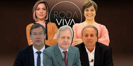 Acima, Daniela Lima e Vera Magalhães; abaixo, Ricardo Lessa, Augusto Nunes e Mario Sergio Conti