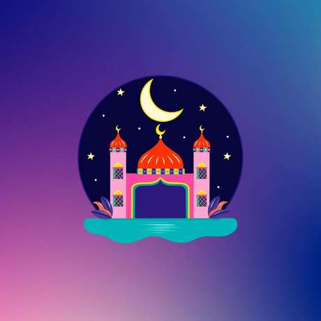 Mesquita ilustrada por Hala AlAbbasi para o Instagram. / Reprodução (@design)