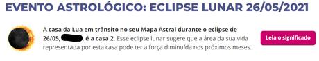 eclipse 26 de maio de 2021