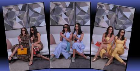 Apaixonadas por moda, Claudia Raia e Sophia se divertiram ao gravar vídeo apresentando looks de Reinaldo Lourenço