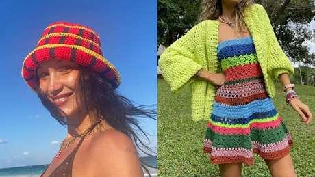 Looks com peças de crochê