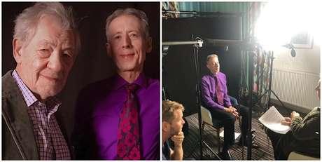 O ativista Peter Tatchell com o ator Ian McKellen, entrevistador no documentário dirigido por Christopher Amos