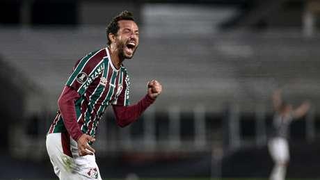 Nenê marcou seu gol na partida contra o River, na última terça (Foto: Divulgação/ Lucas Merçon)