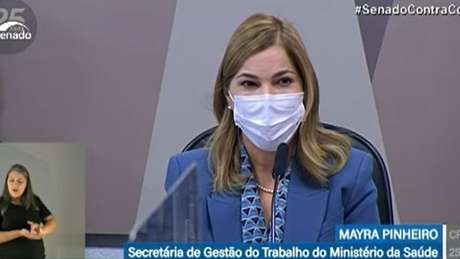 Mayra Pinheiro admitiu à CPI que foi autora de áudio que dizia que 'há um pênis na porta da Fiocruz'