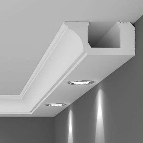 4. Rodapé de gesso para teto com iluminação – Foto Pinterest