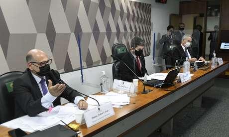 Dimas Covas em depoimento para a CPI da Covid