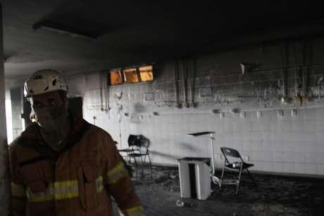 Uma das alas do hospital após incêndio