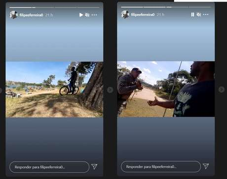 PM aponta arma e algema jovem negro que gravava manobras de bicicleta em Goiás