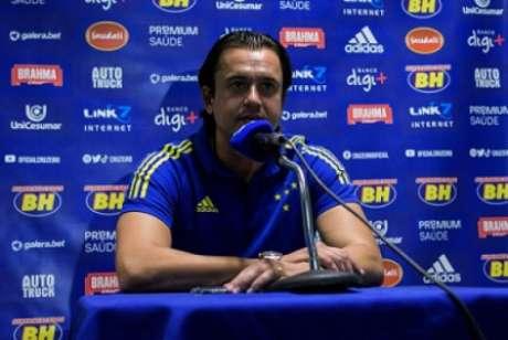 O presidente da Raposa pediu que o torcedor apoie e está otimista com a melhora da equipe na Série B-(Gustavo Aleixo/Cruzeiro)