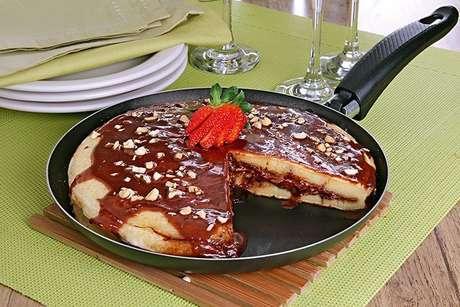 Guia da Cozinha - Panqueca americana de Nutella® pronta em 30 minutos