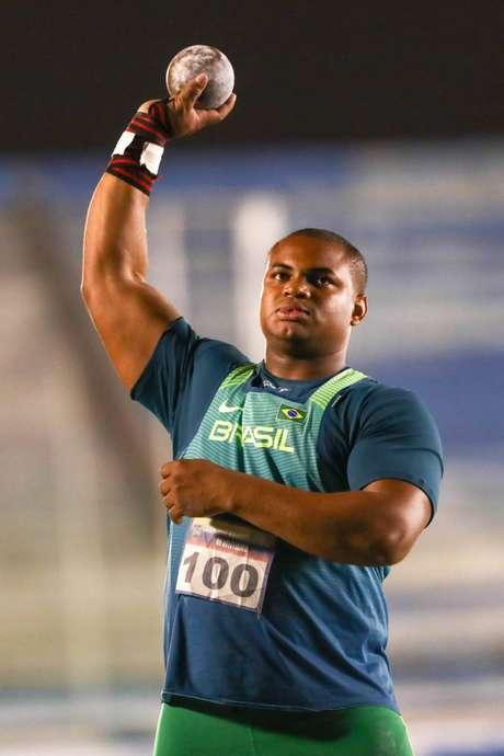 Welington Silva, campeão no arremesso de peso. (Foto: Divulgação/Wagner Carmo)