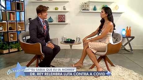 Dr. Rey e Daniela Albuquerque formaram boa dupla no 'Dr. Hollywood', na RedeTV!