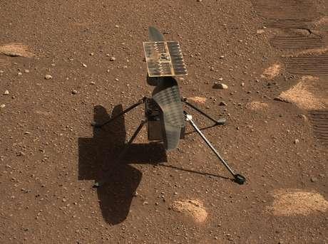 O helicóptero de 1,8 kg é considerado uma demonstração de tecnologia do potencial da mobilidade aérea na fina atmosfera marciana