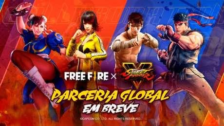 Free Fire e Street Fighter unem forças