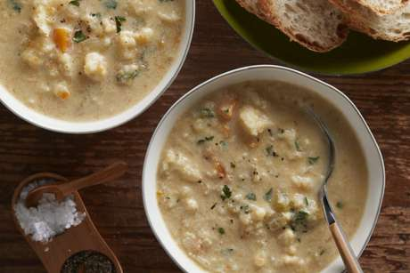 Guia da Cozinha - Sopa cremosa de couve-flor
