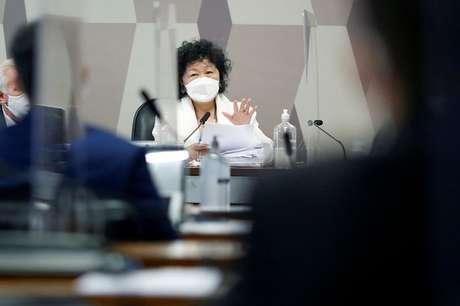 Médica Nise Yamaguchi depõe à CPI da Covid no Senado 01/06/2021 REUTERS/Adriano Machado