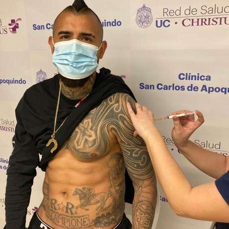 Vidal recebeu a vacina contra a covid-19 há três dias
