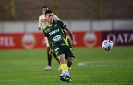 Enzo Fernández em ação pelo Defensa y Justicia (Foto: Staff Images/CONMEBOL)