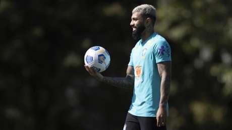 Gabriel Barbosa é um dos representantes do Flamengo na Seleção Brasileira (Foto: Lucas Figueiredo/CBF)