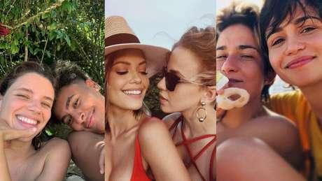 Bruna Linzmeyer, Vitória Strada e Nanda Costa vivem suas relações livremente.