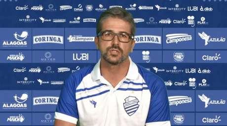 Pastana estava comandando o futebol do CSA e está perto de ser anunciado no Cruzeiro-(Foto: Divulgação/Ascom CSA)