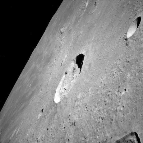 Cratera Kepler, fotografada pela Apollo 12