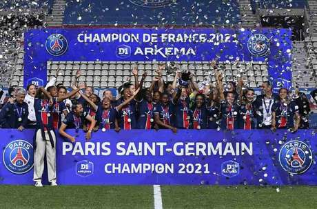 PSG feminino venceu o Francês (Foto: Twitter/PSG Feminino)