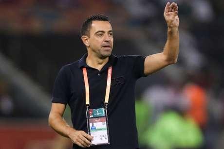 Xavi diz não ter pressa para comandar o Barcelona (Karim Jaafar / AFP)