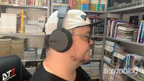 Por aqui o Headset Sem Fio Xbox foi bem confortável