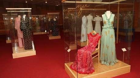 Exposição sobre Zuzu Angel realizada em 2014; como estilista da alta-costura, ela chegou a ter lojas em Ipanema e em Nova York