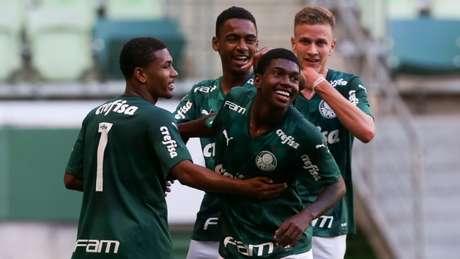 Crias deram show no Allianz Parque (Foto: Fabio Menotti/Palmeiras)
