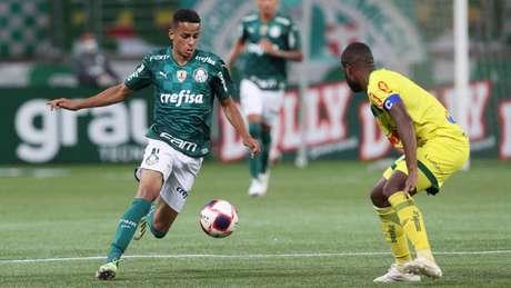 Giovani disputou o Paulistão entre os profissionais do Palmeiras (Foto: Cesar Greco/Palmeiras)