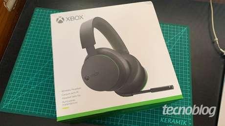 Caixa do Headset Sem Fio Xbox