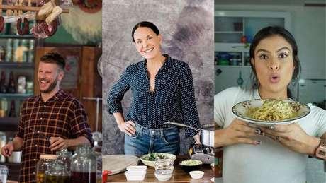 Rodrigo Hilbert, Carolina Ferraz e Hana Khalil sempre compartilham suas experiências