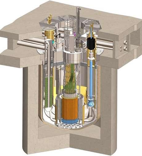 Ilustração demonstra funcionamento de reator Natrium
