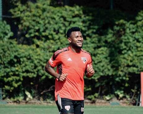 Luan deve desfalcar o Tricolor diante do 4 de Julho (Foto: Fellipe Lucena/São Paulo FC)
