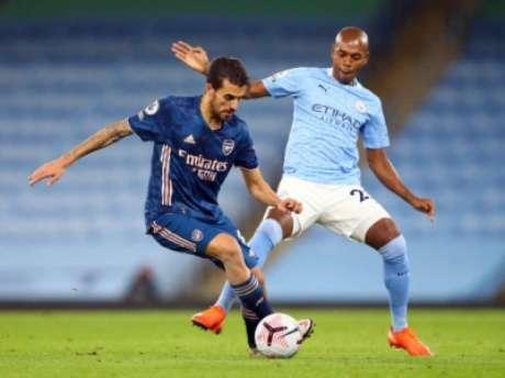 Fernandinho fez história com a camisa do Manchester City (ALEX LIVESEY / POOL / AFP)