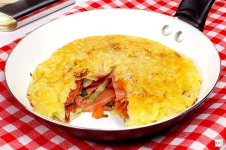Guia da Cozinha - Batata rosti recheada fácil e deliciosa