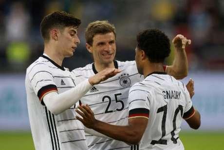 Alemanha venceu a Letônia em amistoso (Foto: ODD ANDERSEN / AFP)