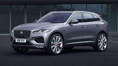 Jaguar F-Pace ganhou novos faróis com assinatura visual em LED.