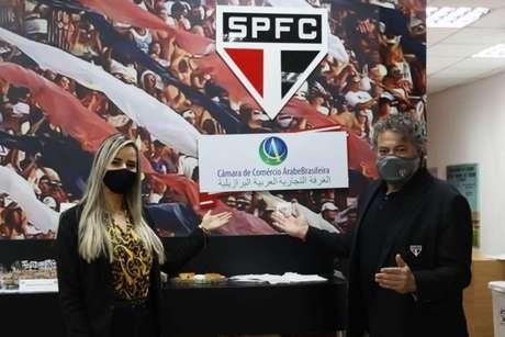 São Paulo fechou parceria com a Câmara de Comércio Árabe-Brasileira (Foto: Divulgação/São Paulo FC)