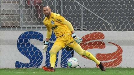 Weverton em ação pelo Campeonato Brasileiro (Foto: Cesar Greco/Agência Palmeiras)