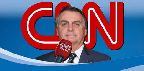 Apesar das críticas, Jair Bolsonaro ainda não boicota a CNN Brasil, como faz com os veículos do Grupo Globo