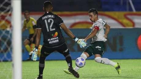 Willian marcou o gol da vitória alviverde no duelo de ida (Foto: Cesar Greco / Palmeiras)